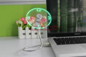 China New Durable Adjustable USB Gadget Mini Flexible LED Light USB Fan Time Clock Desktop Clock Cool Gadget Time Display on sale