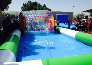 China Customized Commercial Inflatable Pool / Large Inflatable Swimming Pool For Water Roller Balls on sale