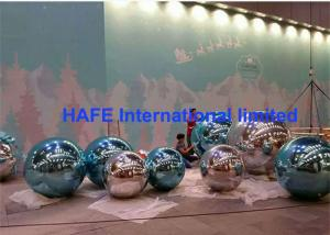 China 2-10M Subtle Acqua Accents Mirror Ball Balloons Silver Golden For Exhibition Use on sale