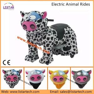 China Coin/Non-coin Operated Plush Motorcycle with Music Box and Light, Action Pony, Ride on Toy on sale