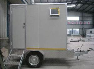 China Portable Prefabricated Steel Toilet With Trailer , Sandwich Panel Made Toilet Used Outdoor on sale