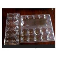 10 Cavities Clear Plastic Egg Cartons , Disposable Food Containers