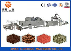 China 304 and 201 Stainless steel fish feed production line , floating fish feed extruder machine on sale