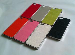 China Coque plástico Custodia del hulle del funda del capa de la cubierta del estuche rígido del cromo de madera 5s del iphone 5 de Apple on sale