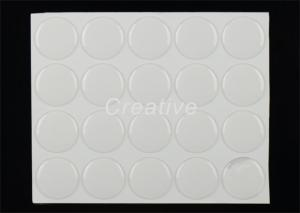 China 1 Inch Clear Epoxy Bottle Cap Stickers / Crystal Clear Epoxy Resin Stickers on sale