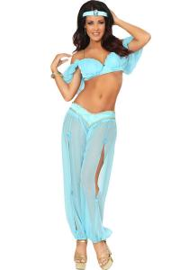 China Arabian Princess Genie  Halloween  Adult  Costumes Greek Goddess Dress Blue Color on sale