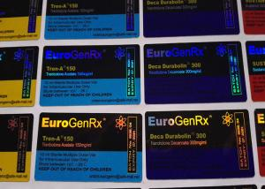 China Euro Gen Rx Deisgn Medication Label Stickers , Strong Adhesive Pharmacy Labels Stickers on sale
