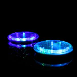 China Water Activated Round LED Acrylic Coaster For  Table Centerpieces, Weddings, Birthdays, KTV ,Night Club on sale