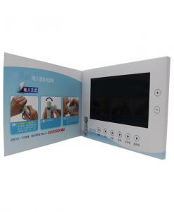 China A5 Matt Cover Lcd Brochure Card , 4.3 Inch Promo Video Brochure For Business on sale