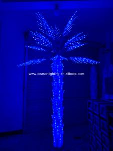 China led color changing palm tree light wholesale