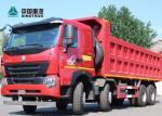 SINOTRUK HOWO A7 EURO 2 371HP 30CBM 50T Payload 8X4 Dump Truck