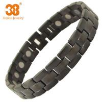 China Excellent Material Men's Black Color Full Magnets Titanium Bracelet for Party Jewelry on sale