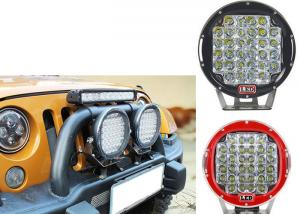 China 96W Red Black Housing LED Driving Lights For Offroad And Truck 4x4 Waterproof Round led Work Light on sale