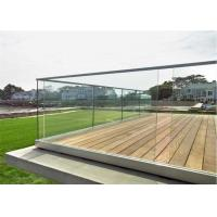 Glass balustrade stainless steel u channel railing for dack usage