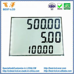 China Custom 3 Rows of 8 Digits 886 7 Segment TN LCD with White LED Backlight For Petrol Pump/Fuel Dispenser/Gas Station on sale