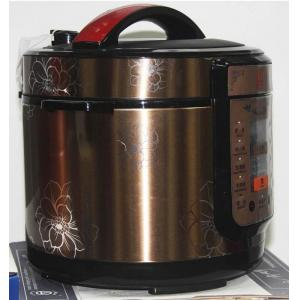 China Double Aluminum Cover Electric Pressure Cooker With Stainless Steel Steamer on sale