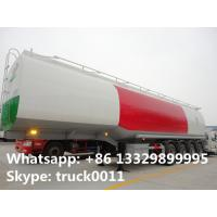 China 4 axles carbon steel fuel tank trailer 50000 liters fuel tank semi trailer fuel tank semi trailer for sale on sale