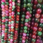 immitation Tourmaline agate  round beads