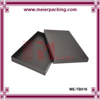 Bespoke Black Paper Clothing Robes Box with Engraved Logo ME-TB016