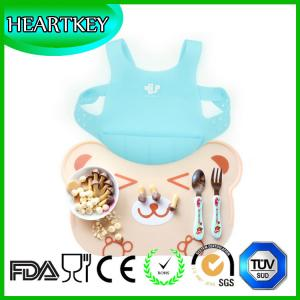 China silicone bibs with crumb catcher,Clean Fast silicone baby bib on sale