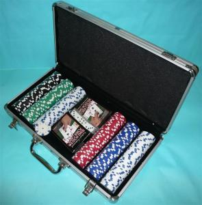 China Silver ABS Panel Poker Chip Carrying Case on sale