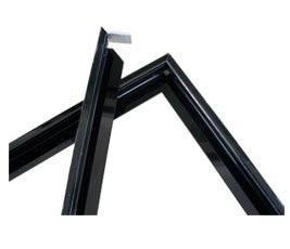 China 30 × 25 mm Black PVDF Aluminium Solar Panel Frame With Drilling / Bending on sale
