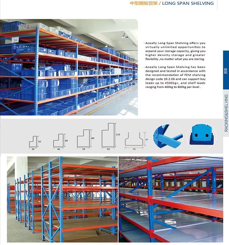 Industrial Warehouse Goods metal long span shelving system