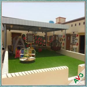 China Warm Green Color Soft Hand feeling but Strong Dence Turf Surface for Play Ground supplier