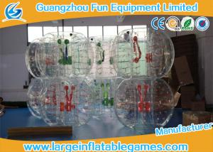 China Clear Soccer Bubble Inflatable Hamster Ball 1.2m / 1.5m Dia For Rental on sale