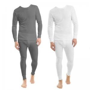China Long Sleeves Bamboo T Shirt And Pants Thermal Underwear Sets Anti UV on sale