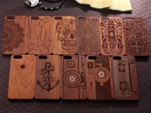 China Natural Texture Wood Cell Phone Case , Anti - Static Cool Wood Phone Cases on sale
