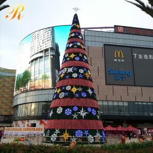 China Giant customized outdoor led decoration lighted artificial commercial christmas tree on sale