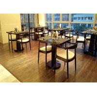 4 Star 5 Star Wooden Modern Restaurant Tables , Antique Style Commercial Cafe Furniture