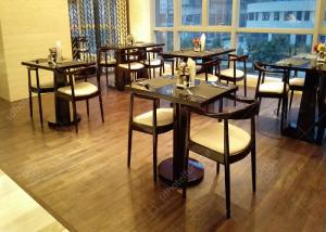 China 4 Star 5 Star Wooden Modern Restaurant Tables , Antique Style Commercial Cafe Furniture on sale