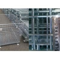 Customized Steel Pallet Cages / Metal Mesh Storage Containers Anti Corrosion