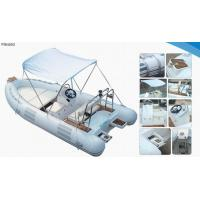 Lightweight Rib Inflatable Boat , Inflatable Tender Boats With UV Resistant Cushion