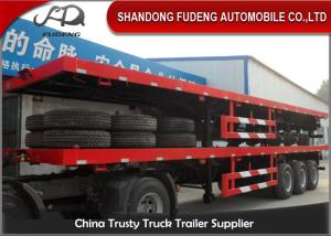 China 40 Feet High Flatbed Container Trailer For Container / Cement Bags Transport on sale