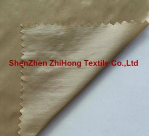China Soft nylon taffeta fabric with down proof coating for skin suit on sale