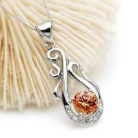 sterling silver necklace,citrine necklace,925 silver jewelry,fine jewerly