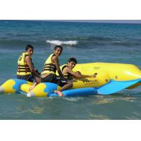 China Yellow 0.9mm PVC Inflatable Fly Fish Inflatable Toy Boat For Water Game on sale