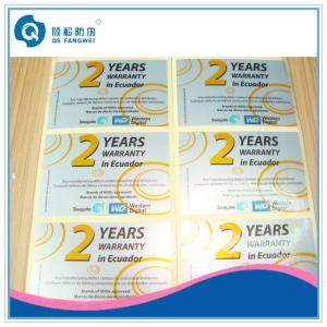 China Die Cut Glossy Lamination Silver PET Label , Glossy Silver Self Adhesive Plastic Labels In Sheet on sale