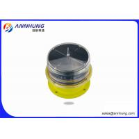 Helipad LED Aviation Obstacle Light With Solar Panel Die Casting Aluminum