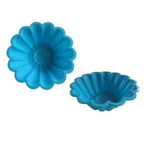 China FDA&LFGB silicone flower cake/bread/loaf mould & baking cupcake pan on sale
