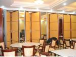 Sound Insulation Folding Restaurant Partition Wall With Aluminum Frame