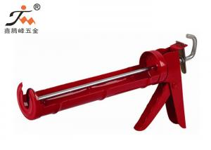 China Powder Coated Metal Low Viscosity Silicone Sealant Gun With Big Ladder Hook on sale