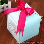 Wholesale paper box with pink Ribbon Cake box