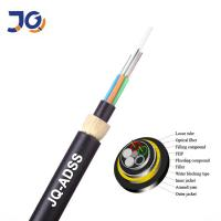 China Adss Kevlar Yarn 24 Core Multimode Fiber Optic Cable on sale