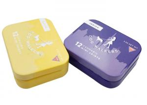 China Mini Hinged Lid Tins Empty Storage Metal Case For Mint Chewing Gun Candy on sale