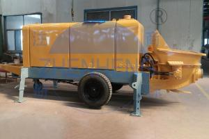 China Trailer Mount Stationary Concrete Pump , Wear Resistant Small Cement Pump on sale