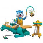 A8000-I B Cartoon Design Kids Children Dental Chair Unit With Blue Cat